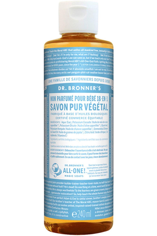 Blissim : Dr Bronner's - Savon Liquide - Savon Liquide Non Parfumé pour Bébé