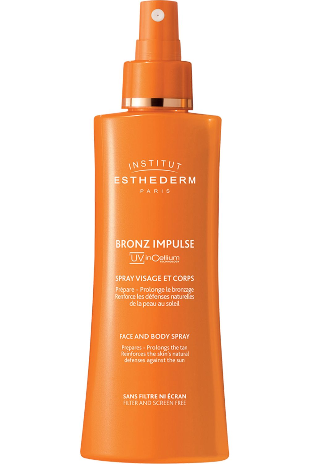 Blissim : Institut Esthederm - Brume visage et corps Bronz Spray Impulse UV InCellium - Bronz Spray Impulse UV InCellium 150mL