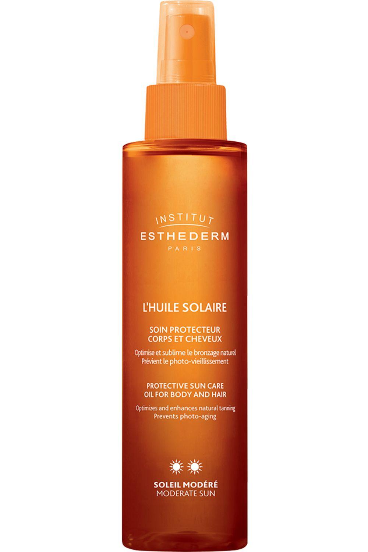 Blissim : Institut Esthederm - Huile solaire corps et cheveux - Huile Solaire Soleil Modéré