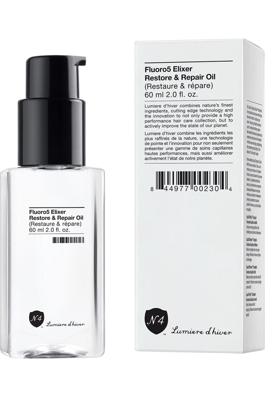 Blissim : Number 4 - Huile cheveux Fluoro5 Elixer Restore & Repair Oil - Huile cheveux Fluoro5 Elixer Restore & Repair Oil