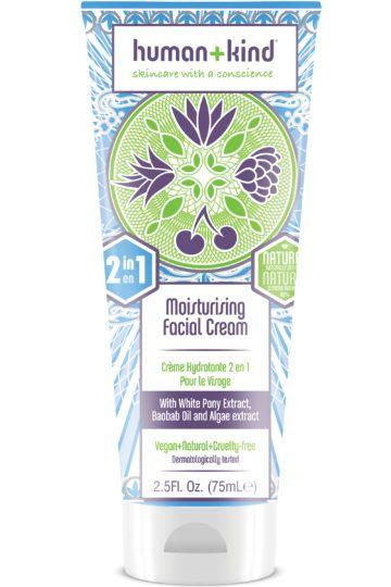Crème hydratante 2 en 1 pour le visage
