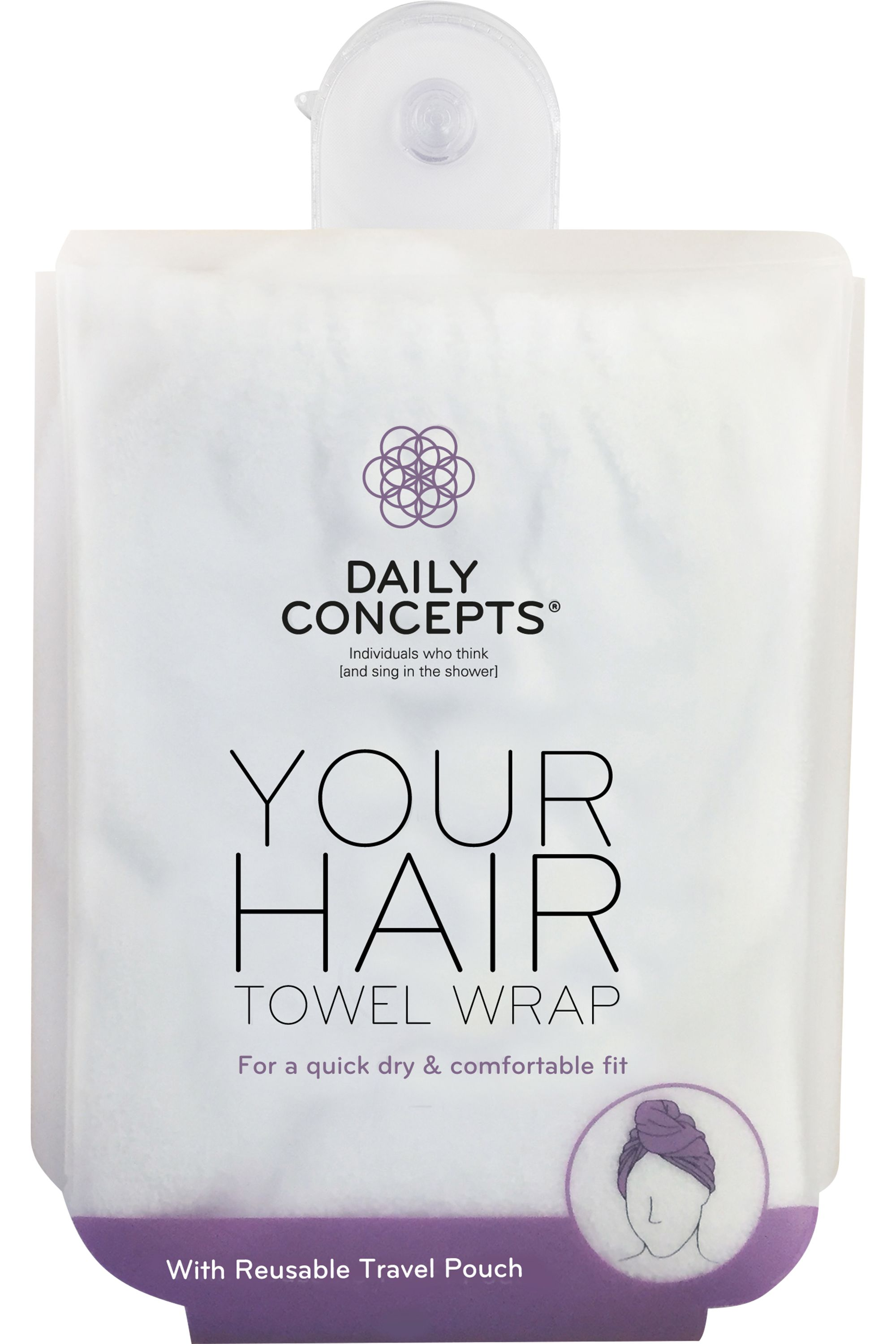 Blissim : Daily Concepts - Serviette absorbante cheveux Your Hair Towel Wrap - Serviette absorbante cheveux Your Hair Towel Wrap