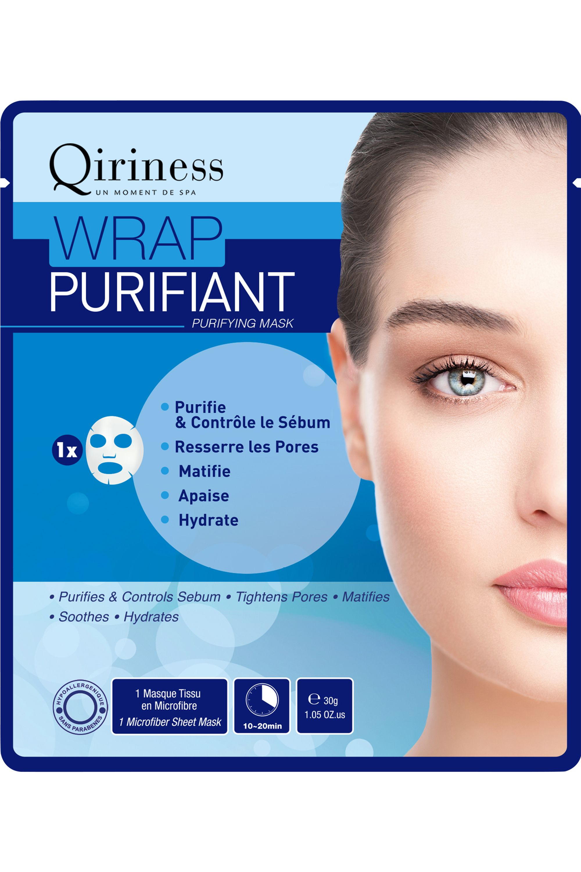 Blissim : Qiriness - Masque Wrap Purifiant - Masque Wrap Purifiant