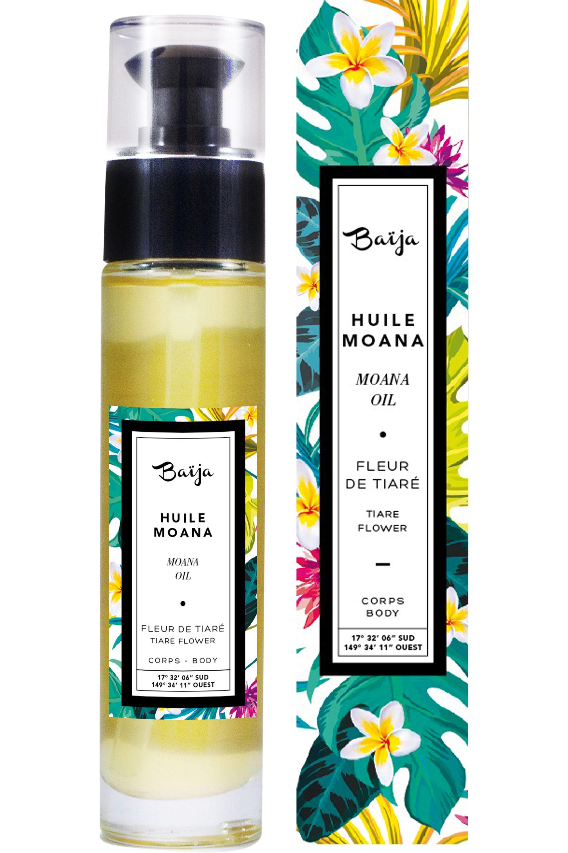 Blissim : Baïja - Huile corps & bain Moana Fleur de Tiaré - Huile corps & bain Moana Fleur de Tiaré