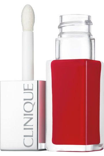 Rouge à lèvres laque fini brillant + base lissante Clinique Pop™