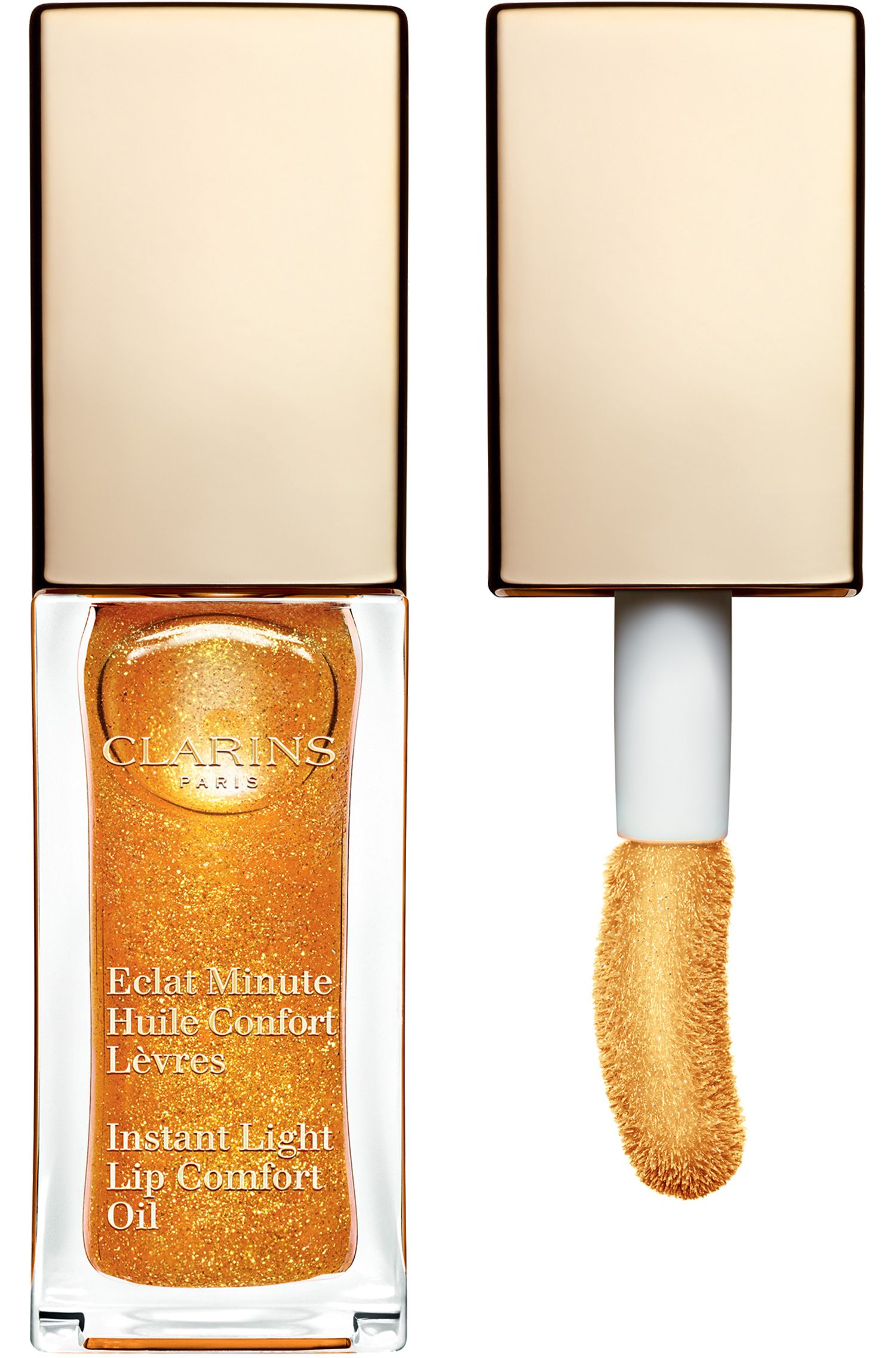 Blissim : Clarins - Huile confort lèvres Eclat Minute - 07-Honey Glam