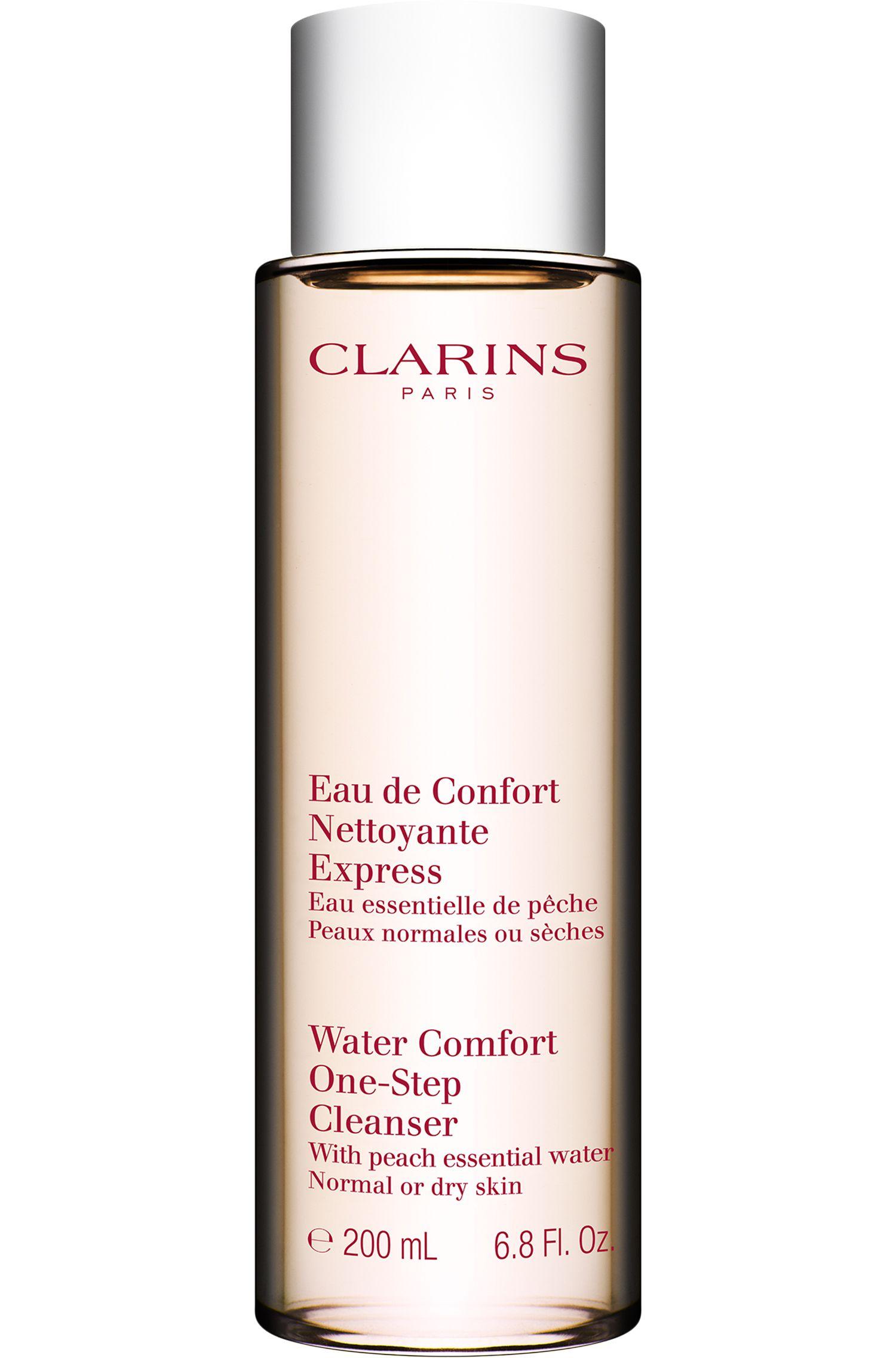 Blissim : Clarins - Eau nettoyante visage express pêche peaux normales à sèches - Eau nettoyante visage express pêche peaux normales à sèches