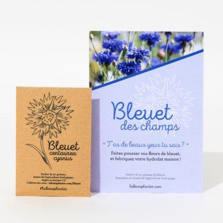 Sachet de 50 graines bio de bleuet et conseils jardinage