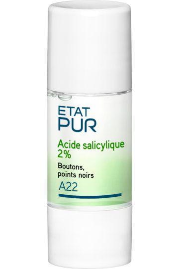 Actif pur acide salicylique anti-imperfections