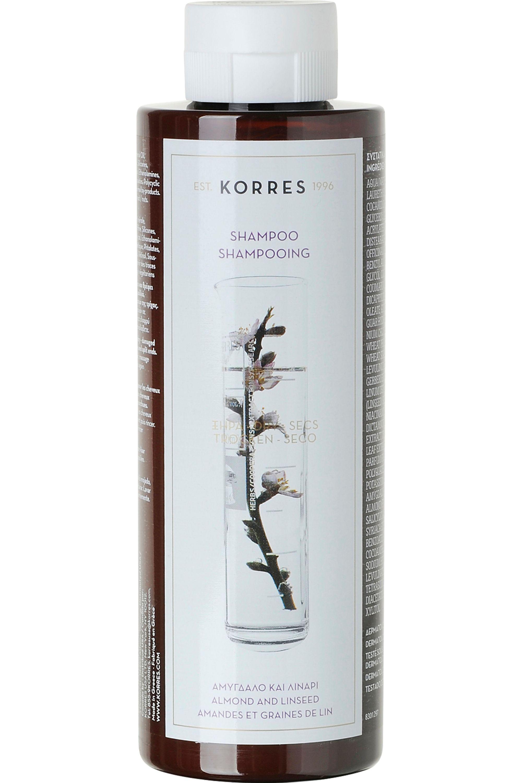 Blissim : Korres - Shampoing amandes et graines de Lin pour cheveux secs et abimés - Shampoing amandes et graines de Lin pour cheveux secs et abimés