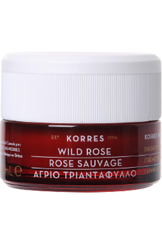 Blissim : Korres - Crème hydratante 24h et Eclaircissante SPF6 Rose Sauvage - Crème hydratante 24h et Eclaircissante SPF6 Rose Sauvage