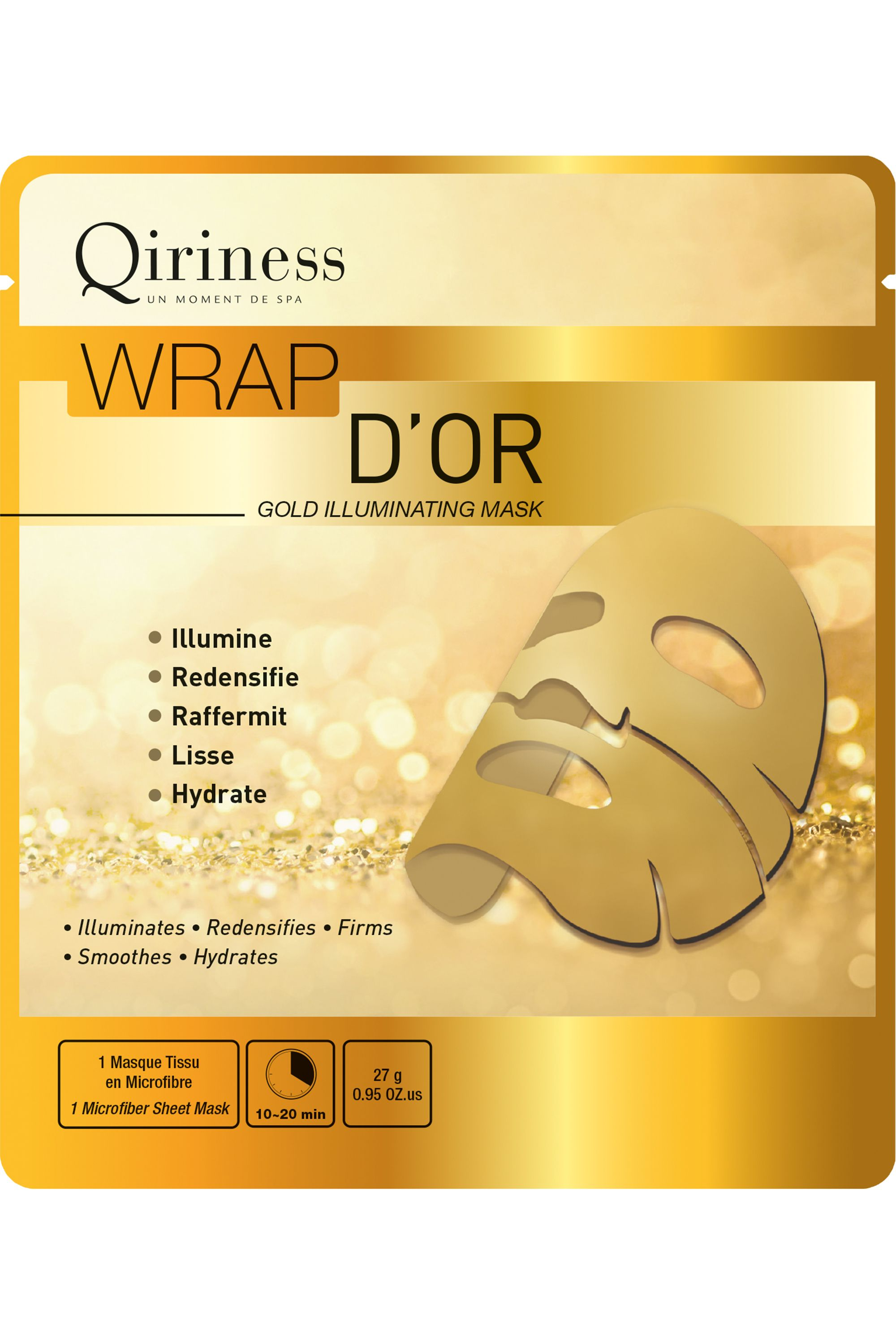 Blissim : Qiriness - Masque Wrap d'Or - Masque Wrap d'Or