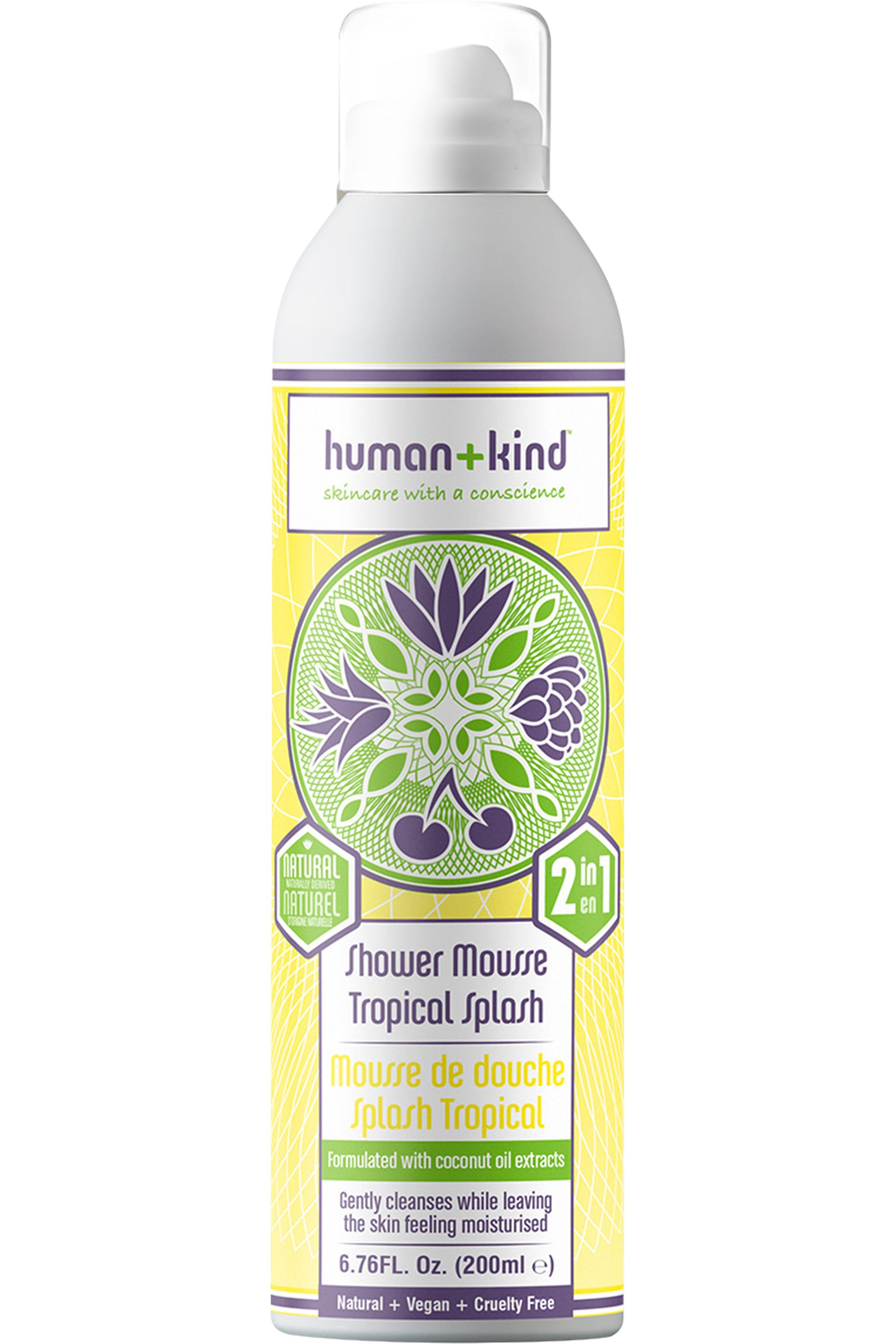 Blissim : Human + Kind - Mousse de douche Tropical Splash - Mousse de douche Tropical Splash