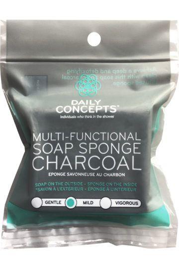 Éponge savonneuse au charbon