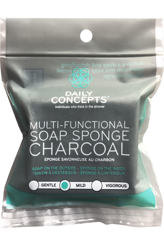 Blissim : Daily Concepts - Éponge savonneuse au charbon - Éponge savonneuse au charbon