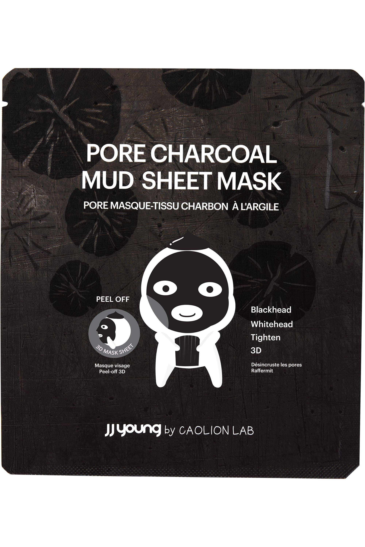Blissim : JJ Young - Masque en tissu purifiant Charbon et Argile - Masque en tissu purifiant Charbon et Argile