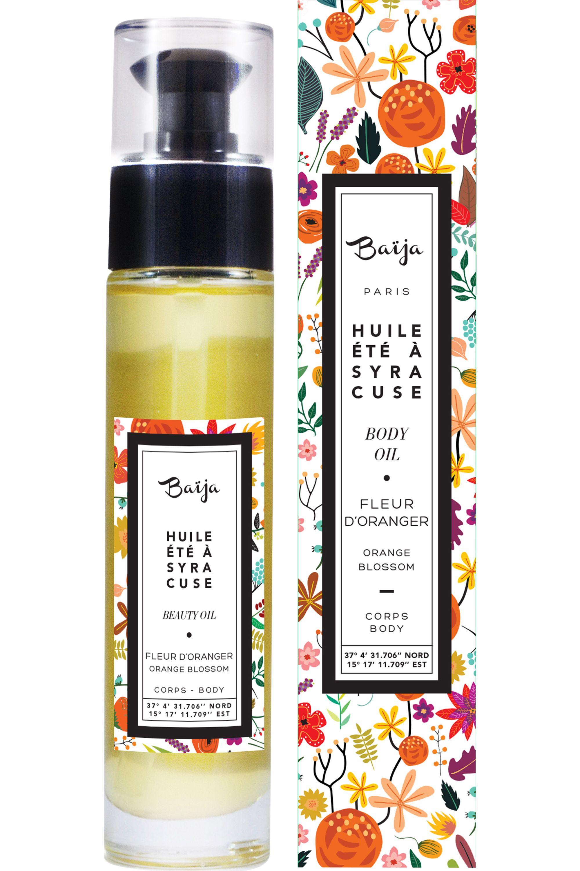 Blissim : Baïja - Huile corps & bain Été à Syracuse Fleur d'Oranger - Huile corps & bain Été à Syracuse Fleur d'Oranger