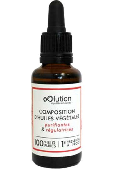 Composition d'huiles végétales bio purifiantes & régulatrices
