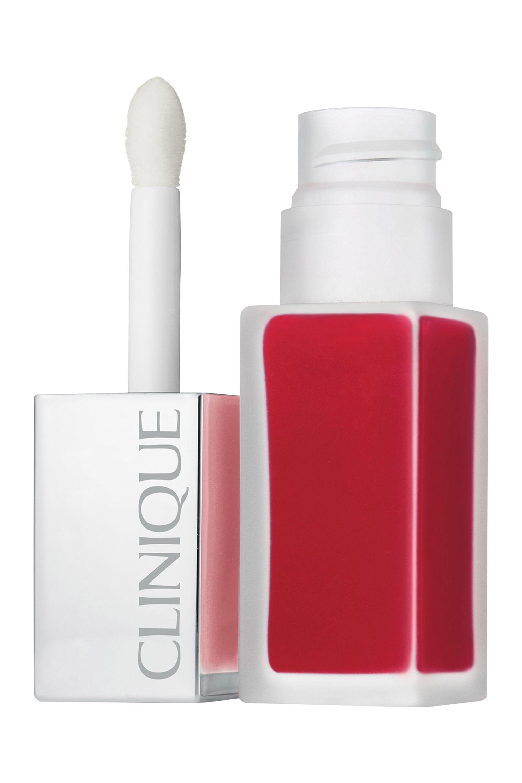 Blissim : Clinique - Rouge à lèvres laque fini mat + base lissante Clinique Pop™ - Flame Pop