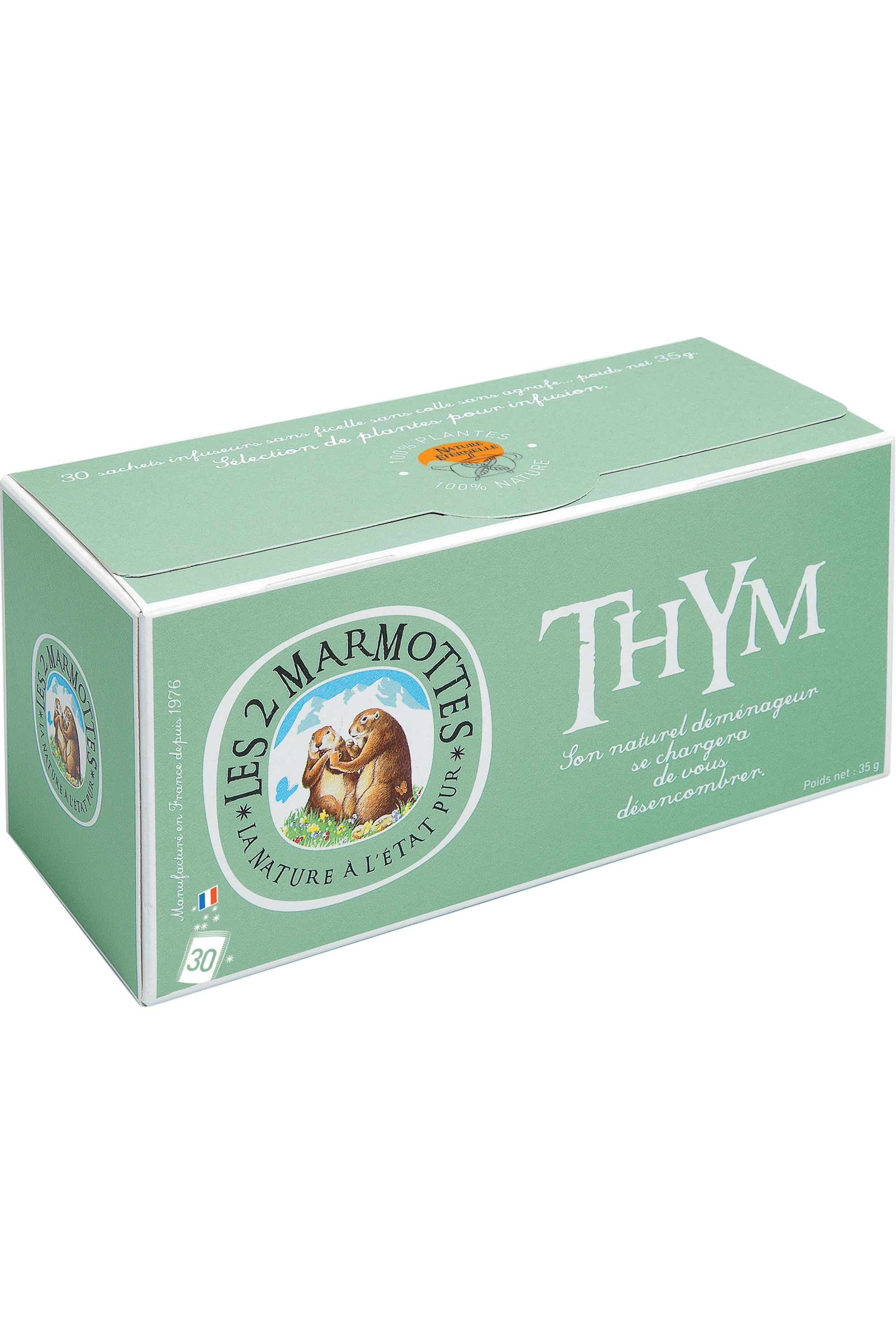 Blissim : Les 2 Marmottes - Infusion Thym – 30 sachets - Infusion Thym – 30 sachets