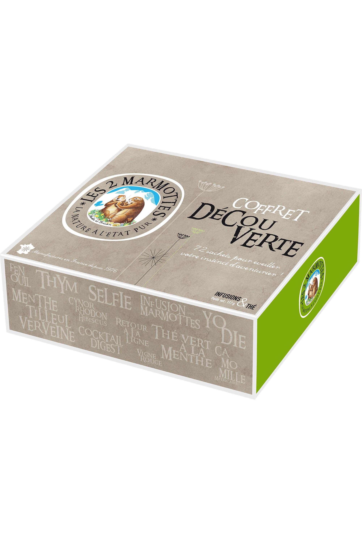 Blissim : Les 2 Marmottes - Coffret Découverte d'infusions et de thé – 72 sachets - Coffret Découverte d'infusions et de thé – 72 sachets
