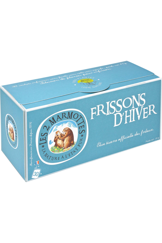 Blissim : Les 2 Marmottes - Infusion Frissons d'Hiver – 30 sachets - Infusion Frissons d'Hiver – 30 sachets