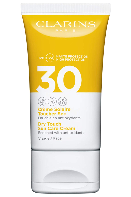 Blissim : Clarins - Crème solaire visage toucher sec UVA/UVB SPF30 - Crème solaire visage toucher sec UVA/UVB SPF30