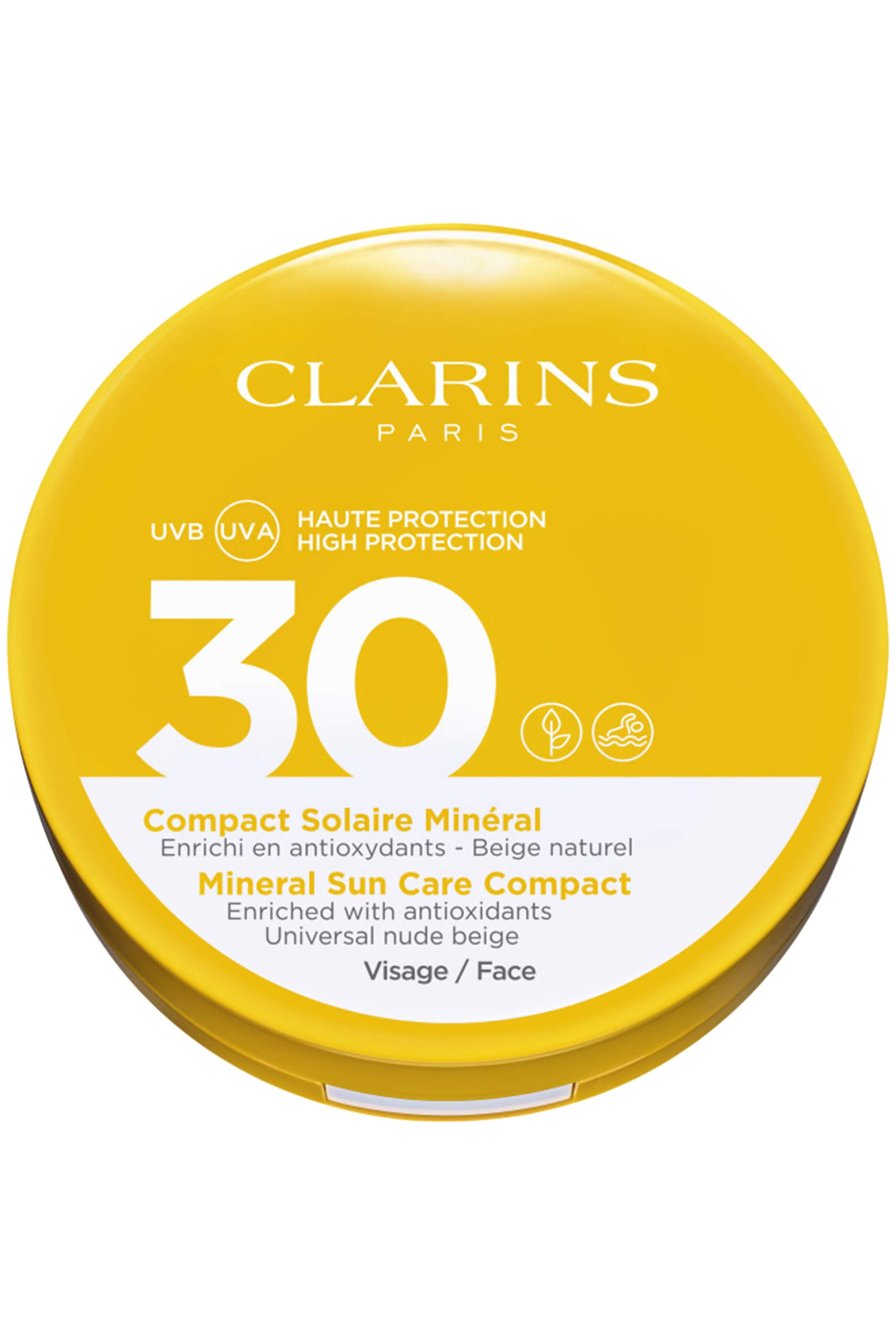 Blissim : Clarins - Compact solaire minéral visage UVA/UVB SPF30 - Compact solaire minéral visage UVA/UVB SPF30