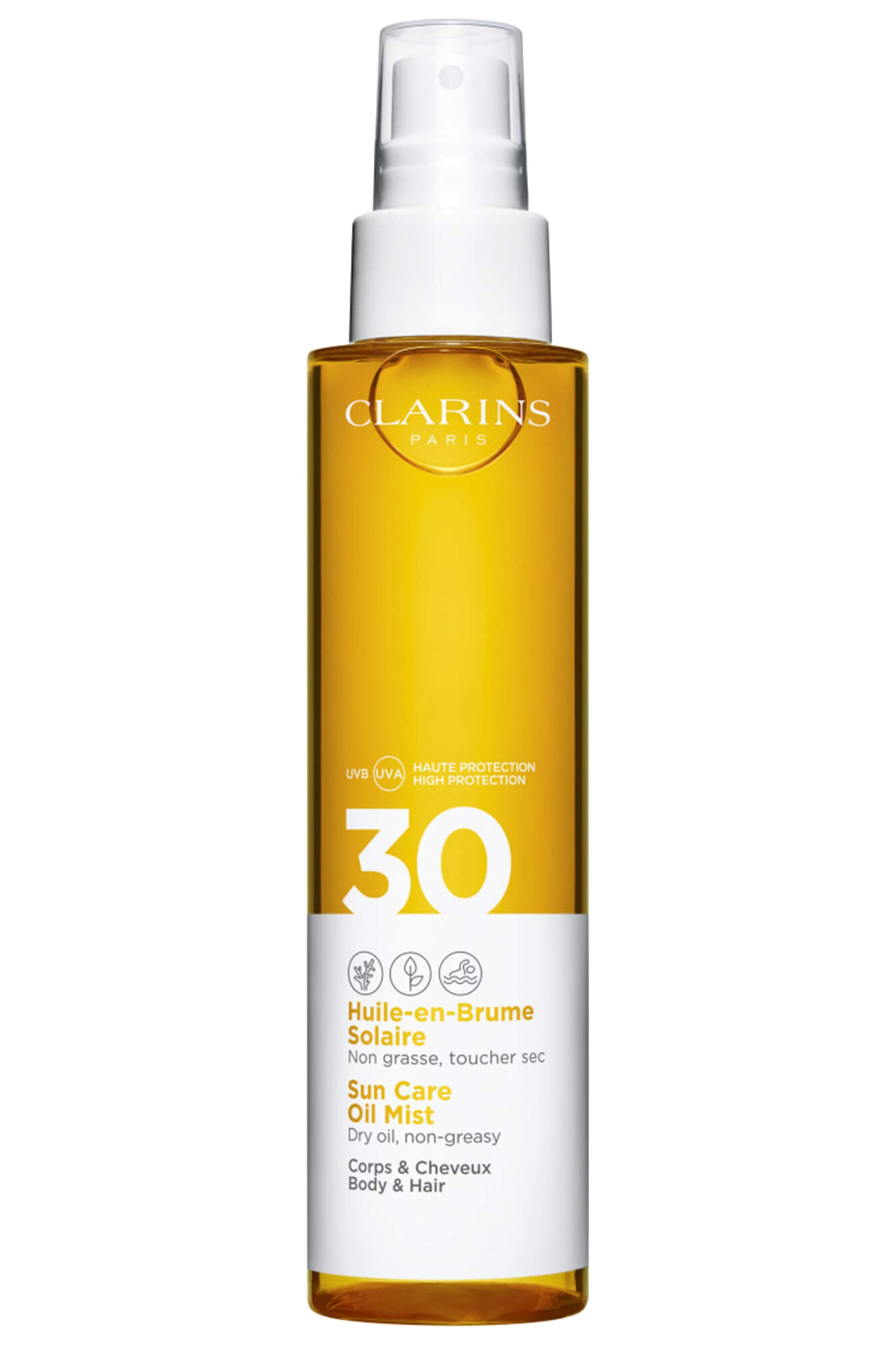 Blissim : Clarins - Huile-en-brume solaire corps UVA/UVB SPF30 - Huile-en-brume solaire corps UVA/UVB SPF30