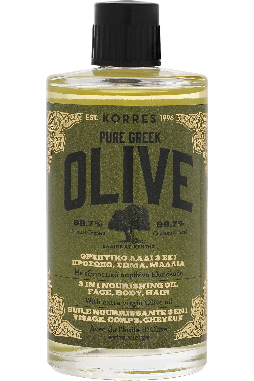 Blissim : Korres - Huile nourrissante 3-en-1 visage, corps et cheveux Olive - Huile nourrissante 3-en-1 visage, corps et cheveux Olive