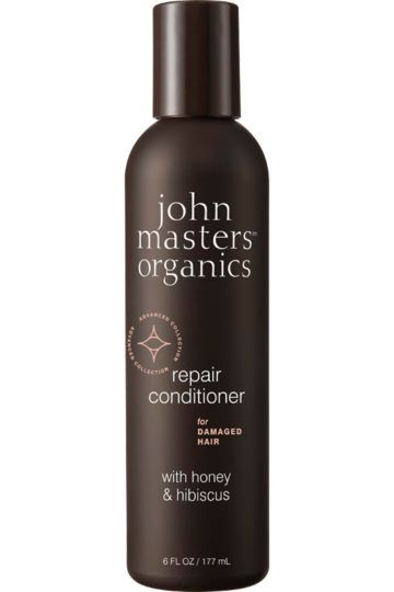 Après-shampoing pour cheveux abîmés au miel et à l'hibiscus