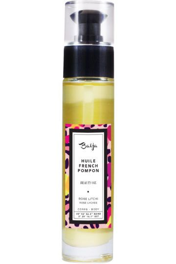 Huile corps & bain French Pompon Rose Litchi