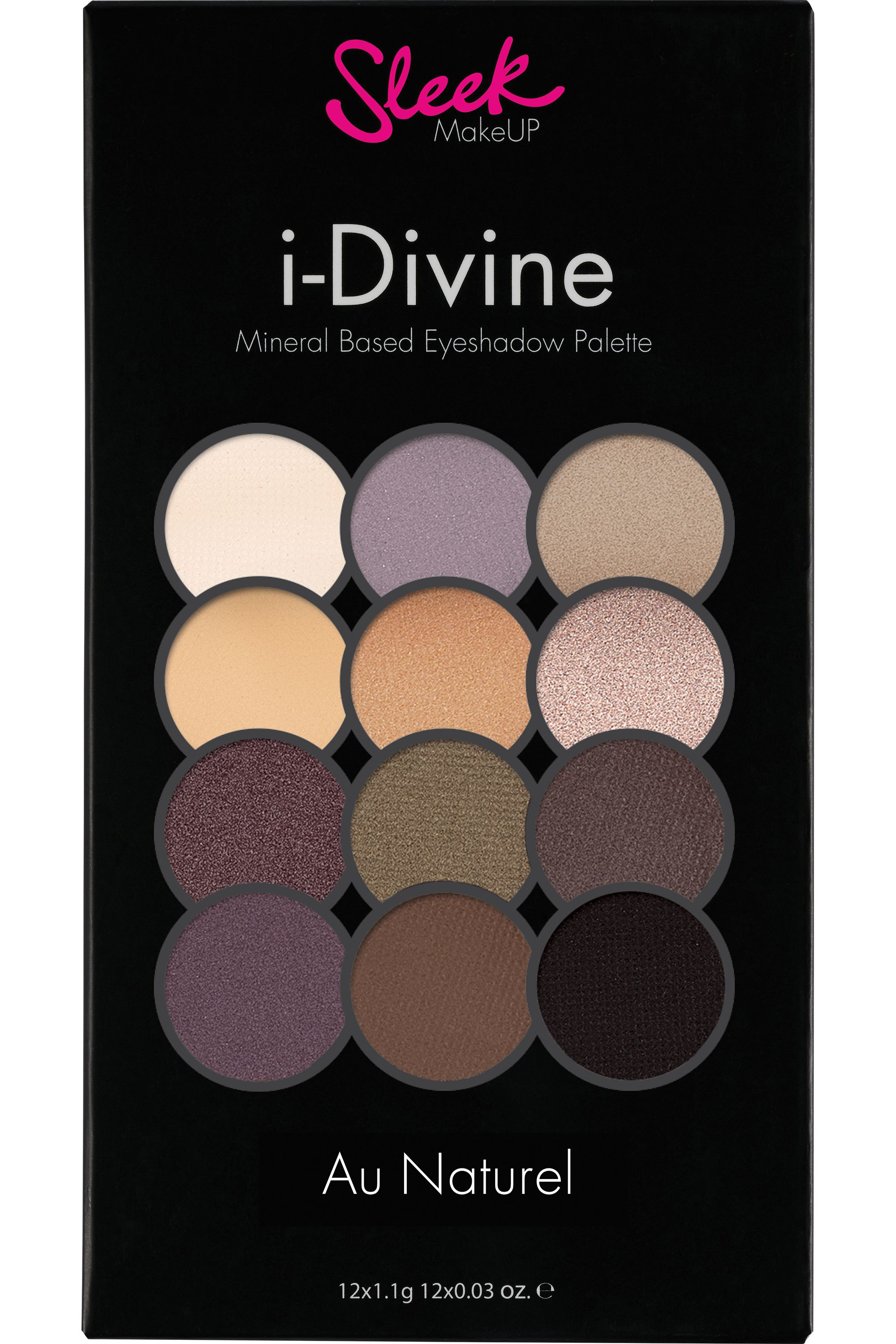 Blissim : Sleek MakeUP - Palette de fards à paupières i-Divine - Au Naturel