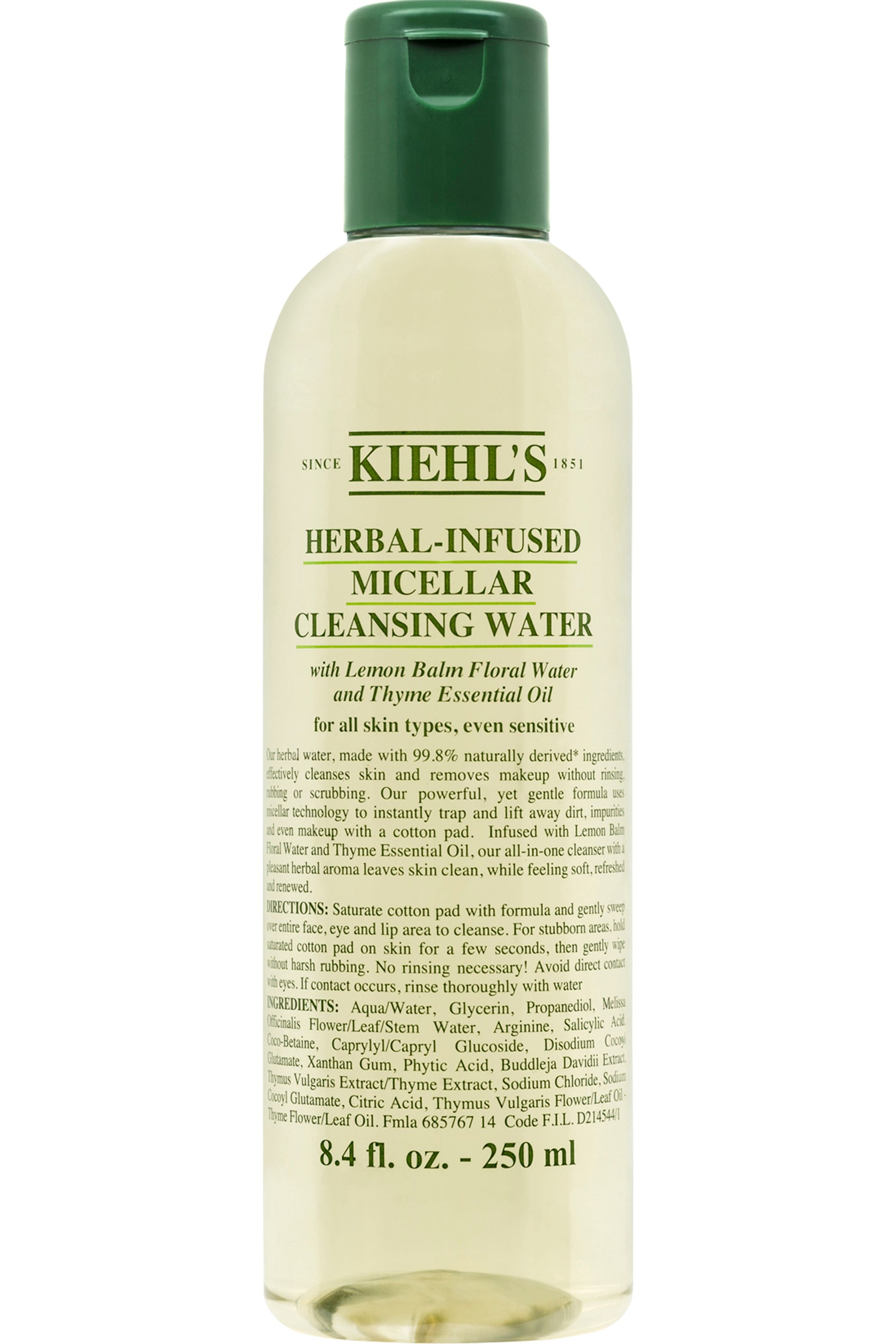 Blissim : Kiehl's - Eau micellaire nettoyante hydratante sans rinçage Herbal Micellar Water - 250 ml