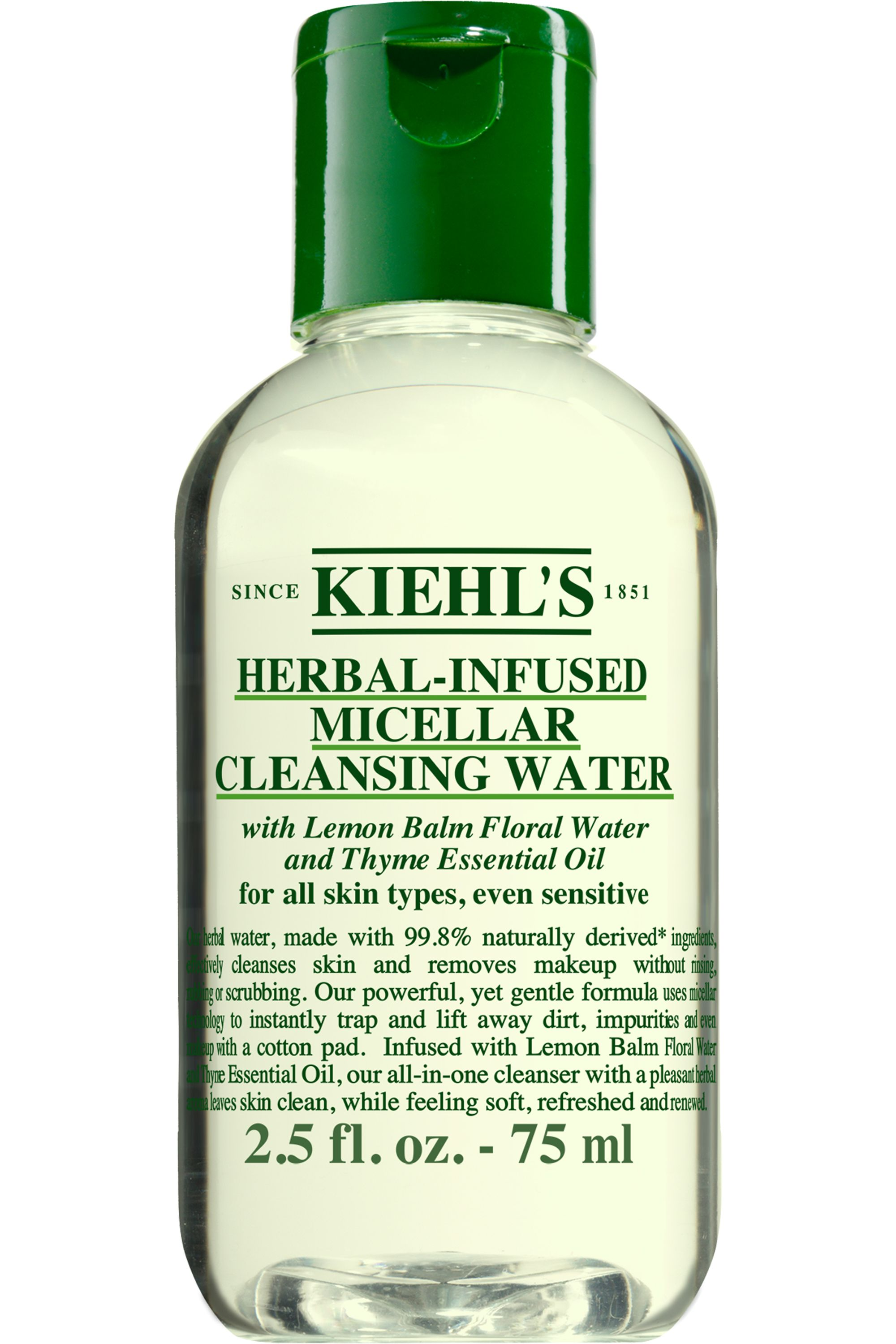 Blissim : Kiehl's - Eau micellaire nettoyante hydratante sans rinçage Herbal Micellar Water - 75 ml