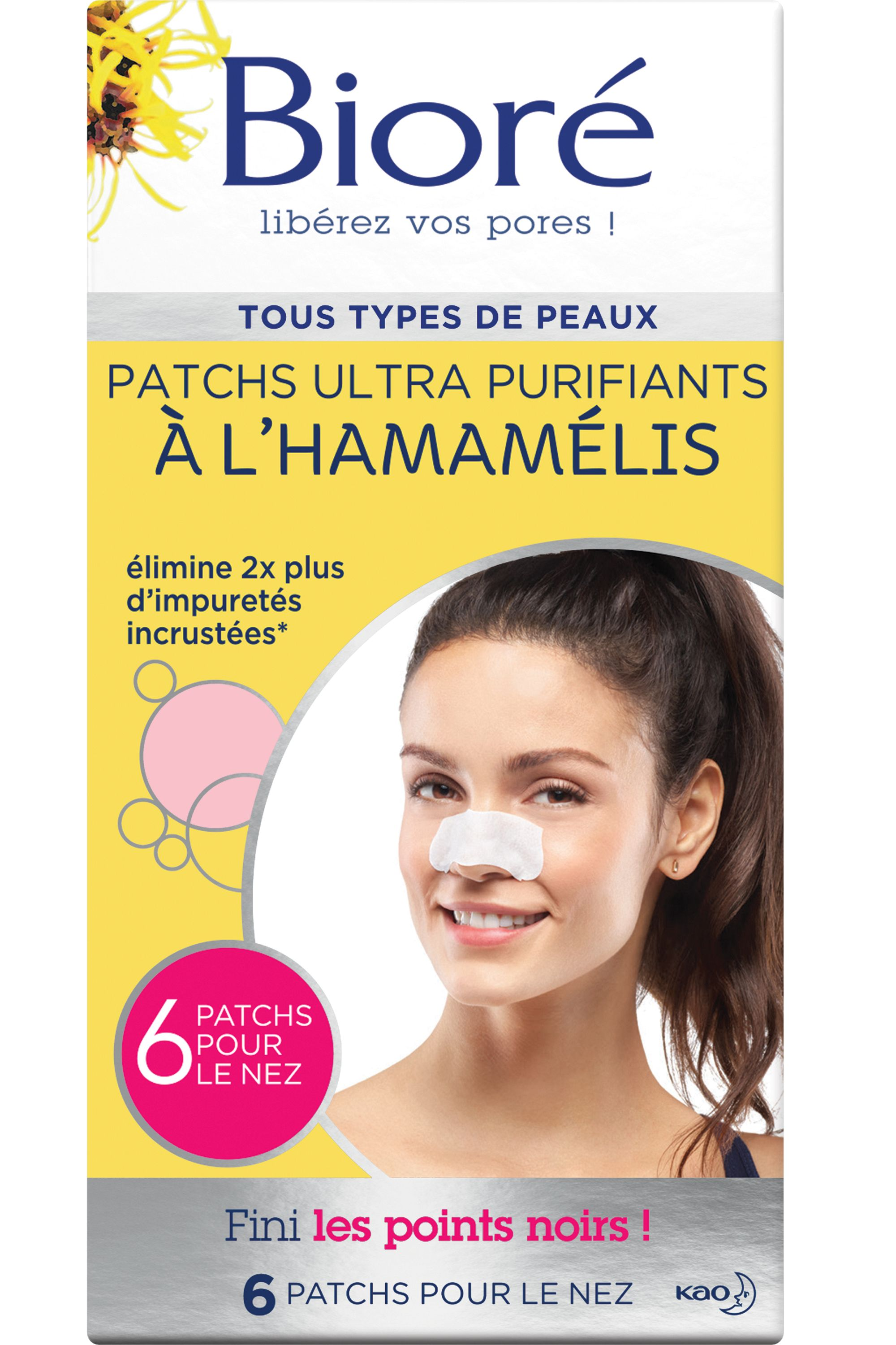 Blissim : Bioré - 6 patchs ultra purifiants à l'Hamamélis - 6 patchs ultra purifiants à l'Hamamélis