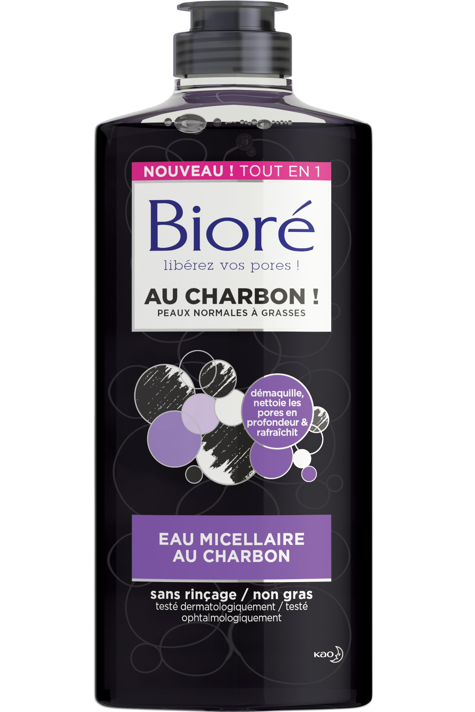 Blissim : Bioré - Eau micellaire matifiante au charbon - Eau micellaire matifiante au charbon
