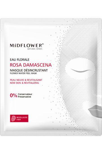 Masque tissu désincrustant à l'eau florale Rosa Damascena