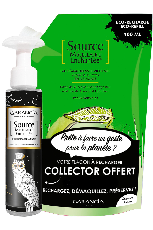 Blissim : Garancia - Eau source micellaire Enchantée® - Recharge Source Micellaire Amande et son flacon vide offert