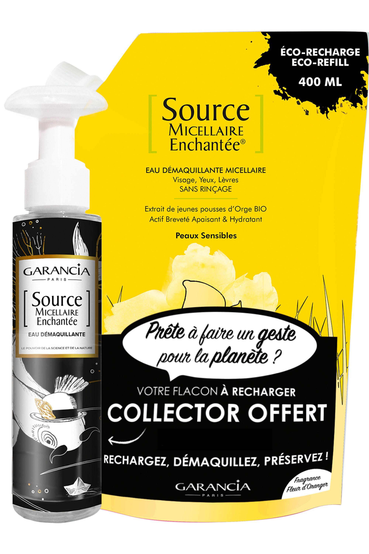 Blissim : Garancia - Eau source micellaire Enchantée® - Recharge Source Micellaire Fleur d'Oranger et son flacon vide offert
