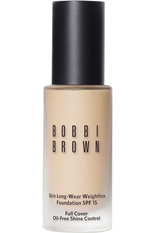 Blissim : Bobbi Brown - Fond de teint skin fini mat Long-Wear Weightless SPF15 - Porcelain