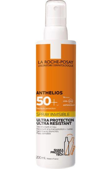 Crème solaire spray invisible corps SPF50+ avec parfum Anthelios