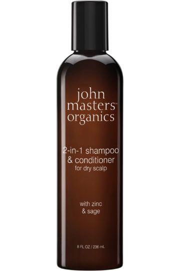 Shampoing et après-shampoing 2-en-1 zinc & sauge