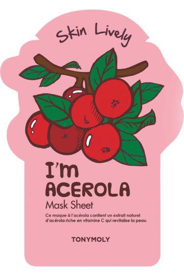 Masque tissu revitalisant I'm Acerola Mask Sheet