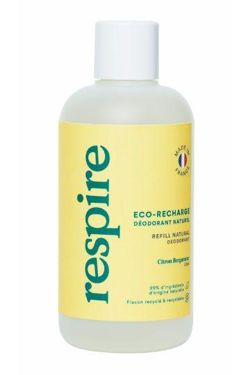 Eco-recharge déodorant naturel roll on citron bergamote