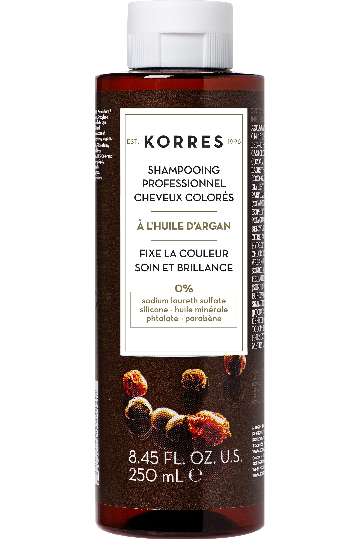 Blissim : Korres - Shampooing professionnel post-coloration huile d'Argan - Shampooing professionnel post-coloration huile d'Argan