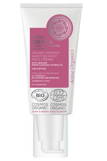 Crème de nuit Bio réparatrice jeunesse de la peau à la Cladonia des Neiges