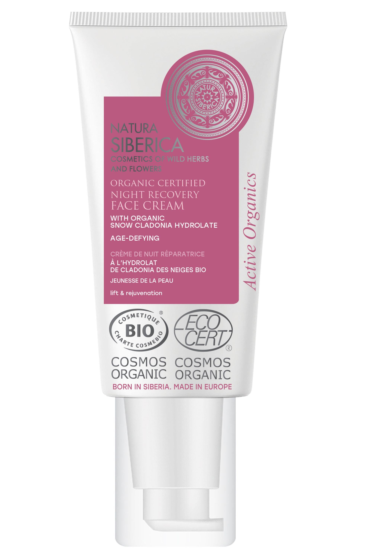 Blissim : Natura Siberica - Crème de nuit Bio réparatrice jeunesse de la peau à la Cladonia des Neiges - Crème de nuit Bio réparatrice jeunesse de la peau à la Cladonia des Neiges