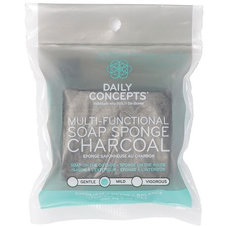 Soap sponge Charcoal - Daily Concepts