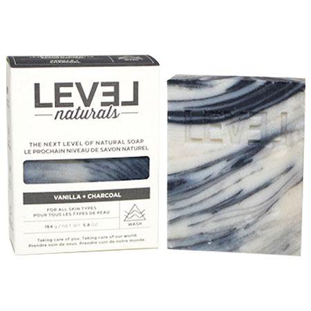Savon vanille+charbon - LEVEL NATURALS